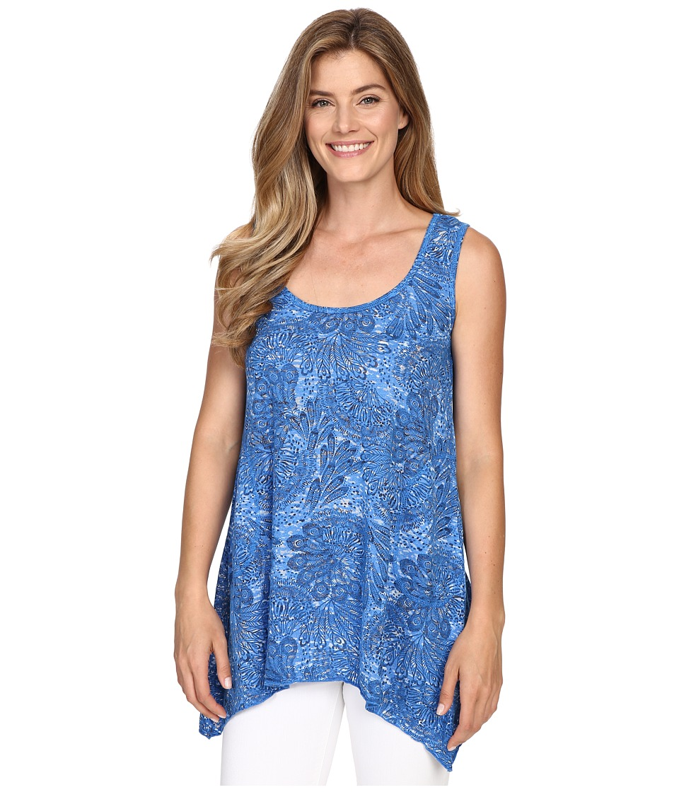 Allen Allen - Angled Tank Top (Blue Astor) Women's Sleeveless