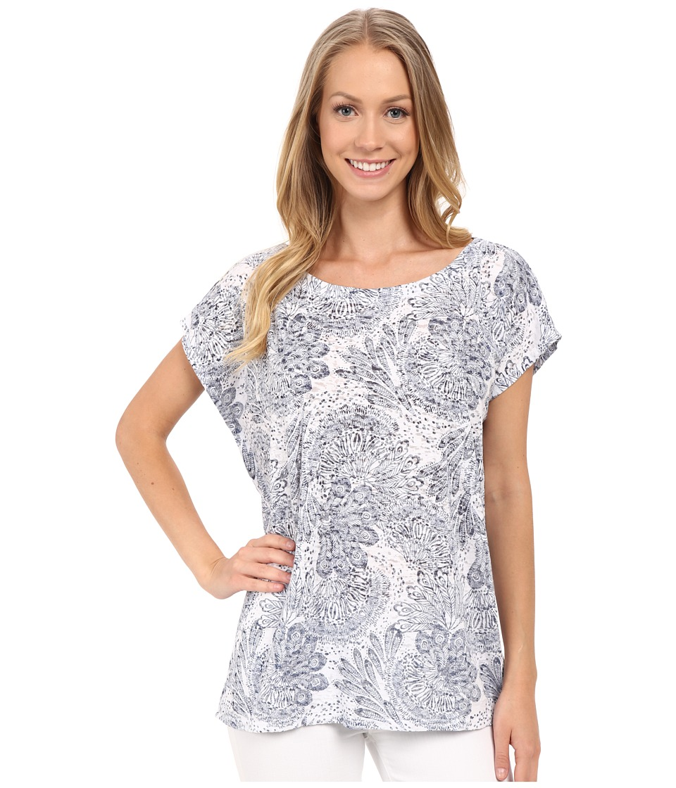 Allen Allen - Square Top (White) Women's Clothing