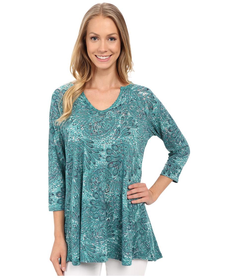 Allen Allen - Keyhole Tunic (Emerald) Women's Blouse