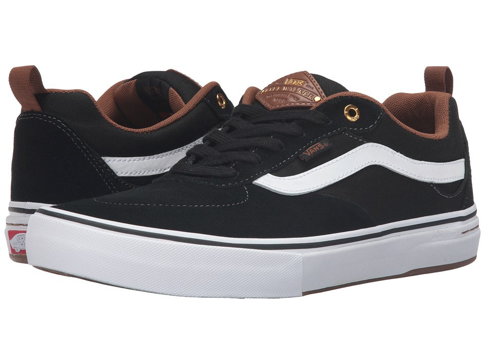 Vans - Kyle Walker Pro (Black/White/Gum) Men's Skate Shoes
