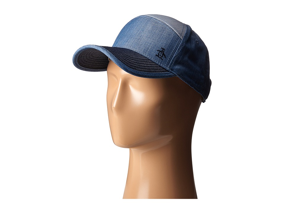 Original Penguin - Color Blocked Chambray Baseball Cap (Indigo Denim) Bucket Caps
