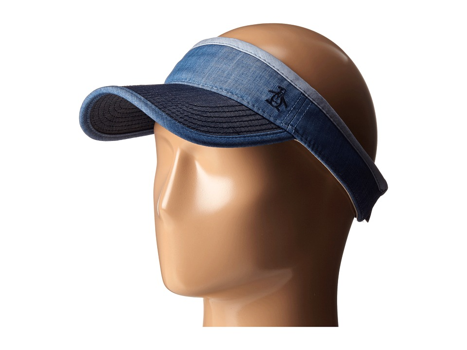 Original Penguin - Color Blocked Chambray Visor (Indigo Denim) Casual Visor