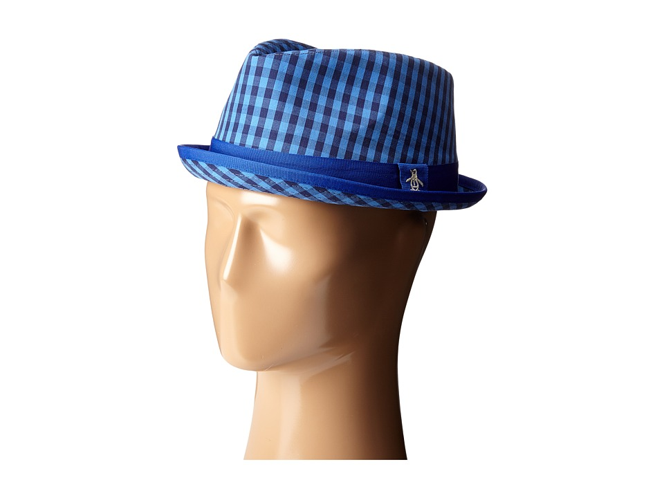 Original Penguin - Mini Cheque Porkpie Hat (Directoire Blue) Caps