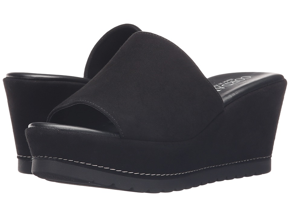 Cordani - Derry (Black Suede) Women's Wedge Shoes