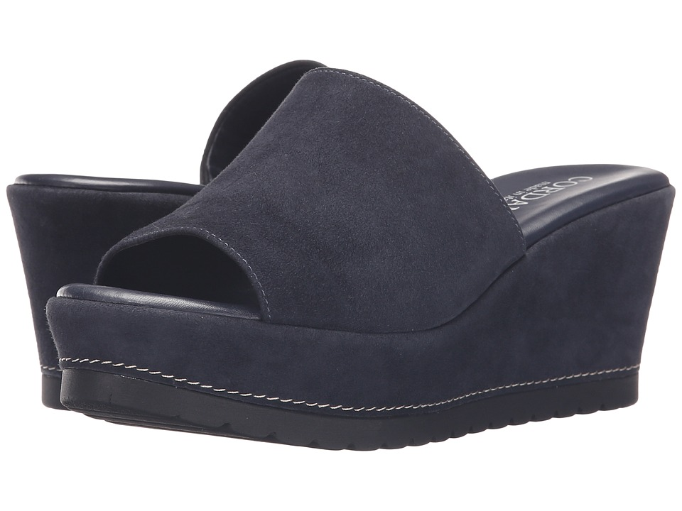 Cordani - Derry (Navy Suede) Women's Wedge Shoes