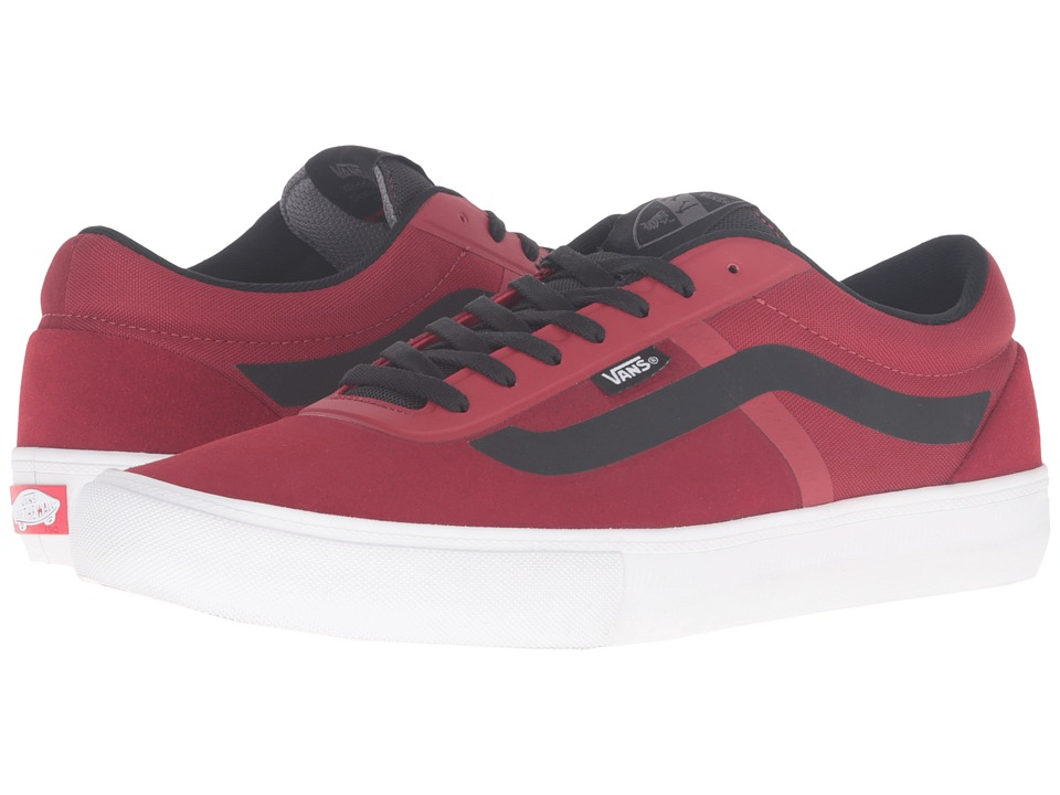 Vans - AV Rapidweld Pro (Red Dahlia/White) Men's Skate Shoes