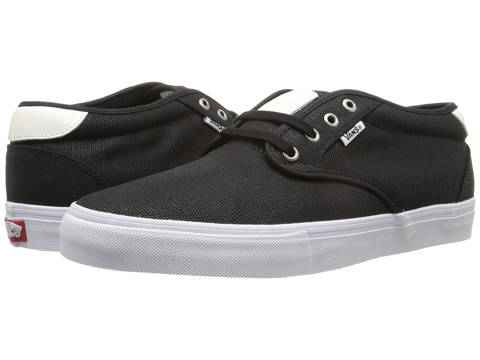 Vans - Chima Estate Pro ((Waxed Canvas) Black/White) Men's Skate Shoes