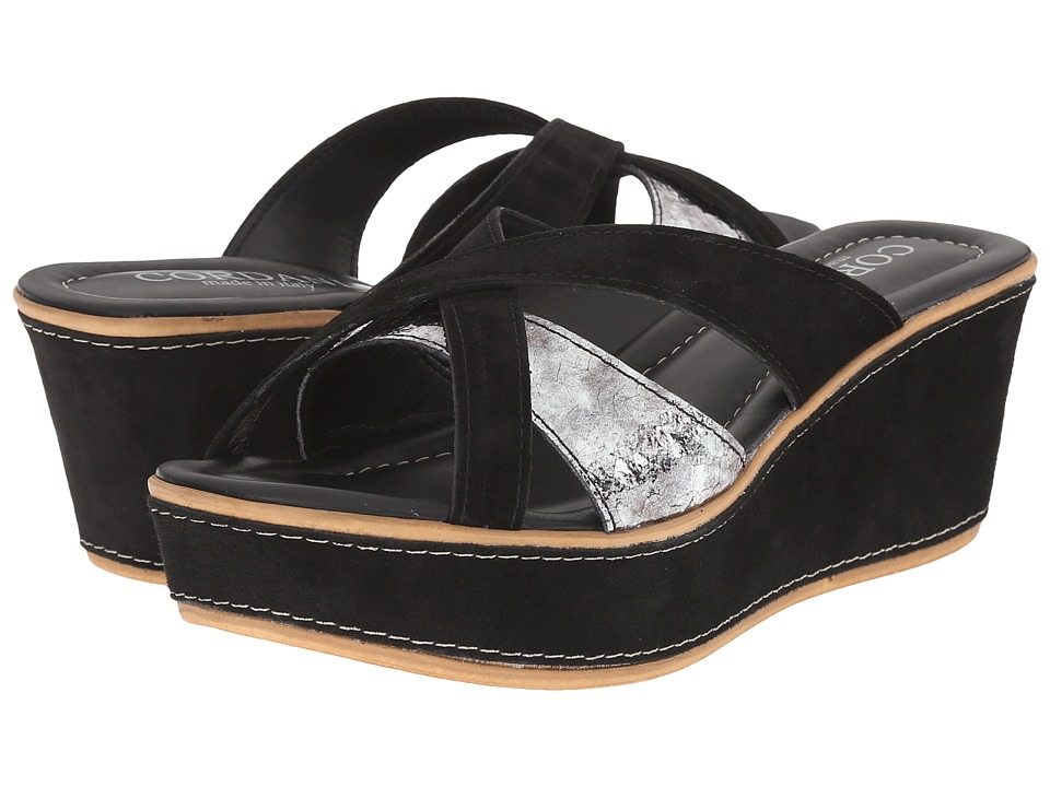 Cordani - Kirstie (Black/Pewter) Women's Wedge Shoes