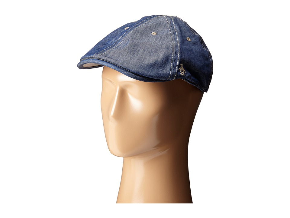 Original Penguin - Chambray Driving Cap (Dark Denim) Caps