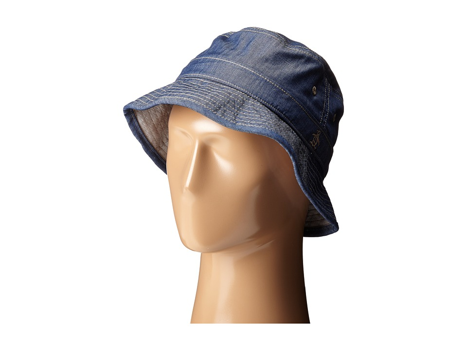 Original Penguin - Chambray Bucket Hat (Dark Denim) Bucket Caps