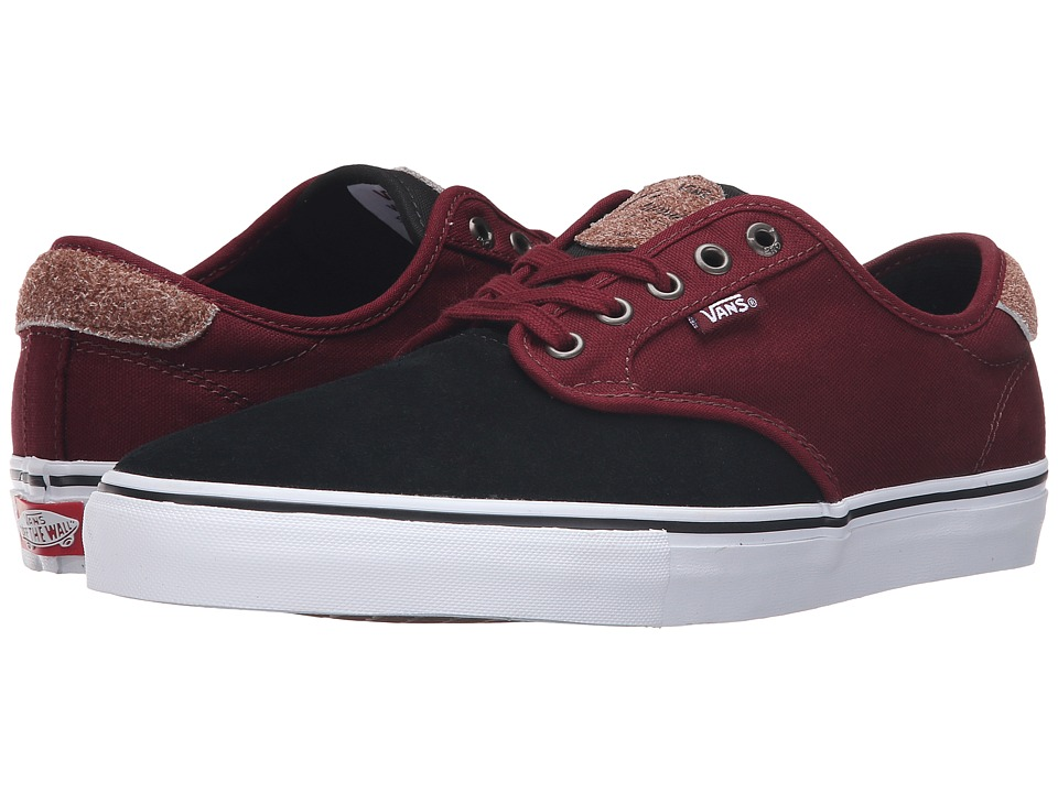 Vans - Chima Pro ((Two-Tone) Black/Port) Men's Skate Shoes