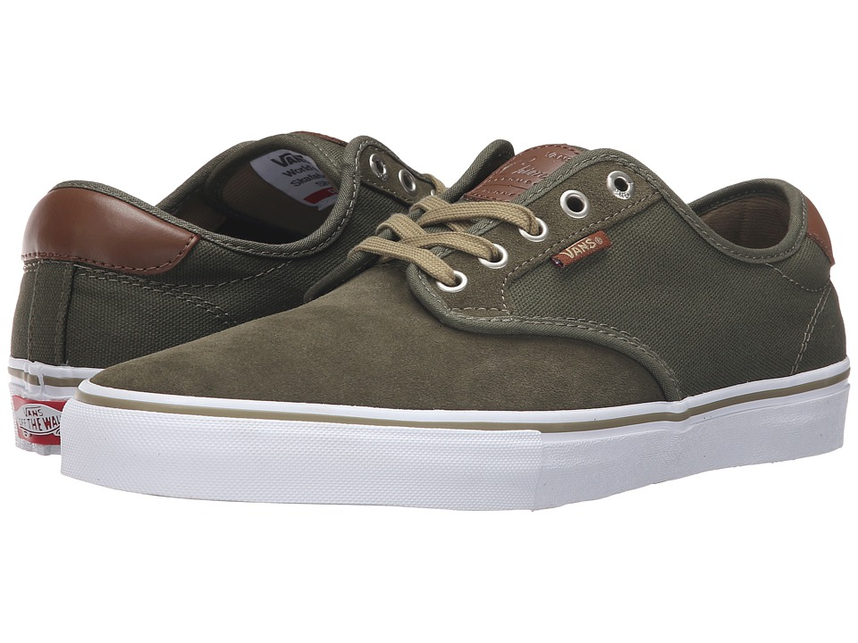 Vans - Chima Pro (Ivy Green/White) Men's Skate Shoes