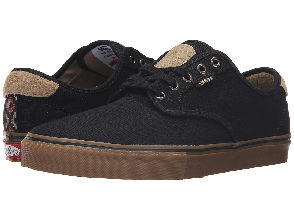 Vans - Chima Pro ((Native) Black/Gum) Men's Skate Shoes