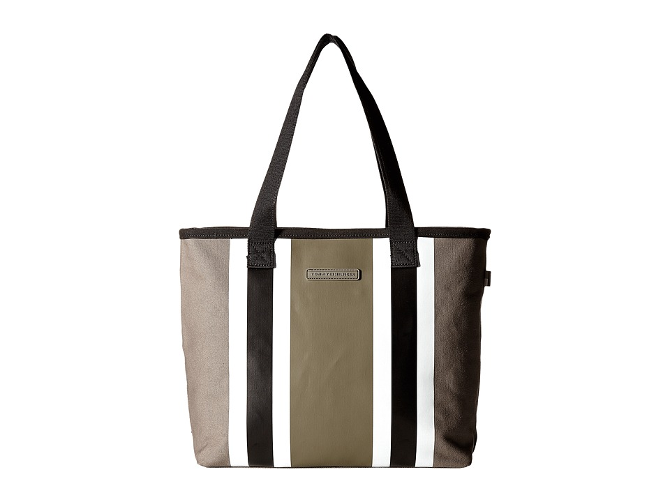 Tommy Hilfiger - TH Stripes - Painted Canvas Shopper (Pepper/Black) Bags