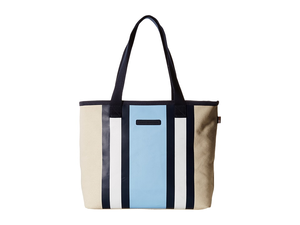 Tommy Hilfiger - TH Stripes - Painted Canvas Shopper (Natural/Blue) Bags