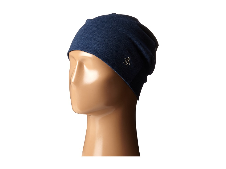 Original Penguin - Cut Sew Beanie (Dark Denim) Beanies