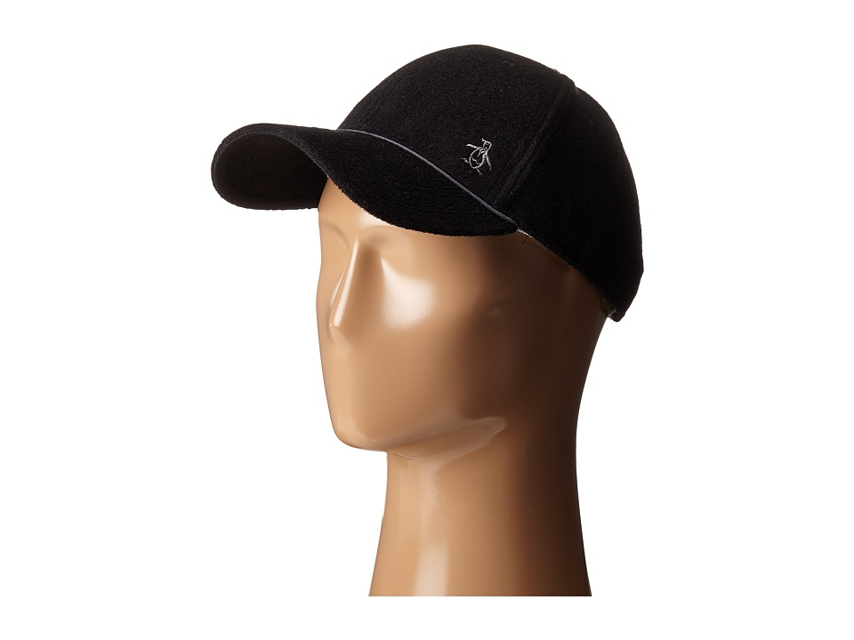 Original Penguin - Terry Cloth Baseball Cap (True Black) Baseball Caps