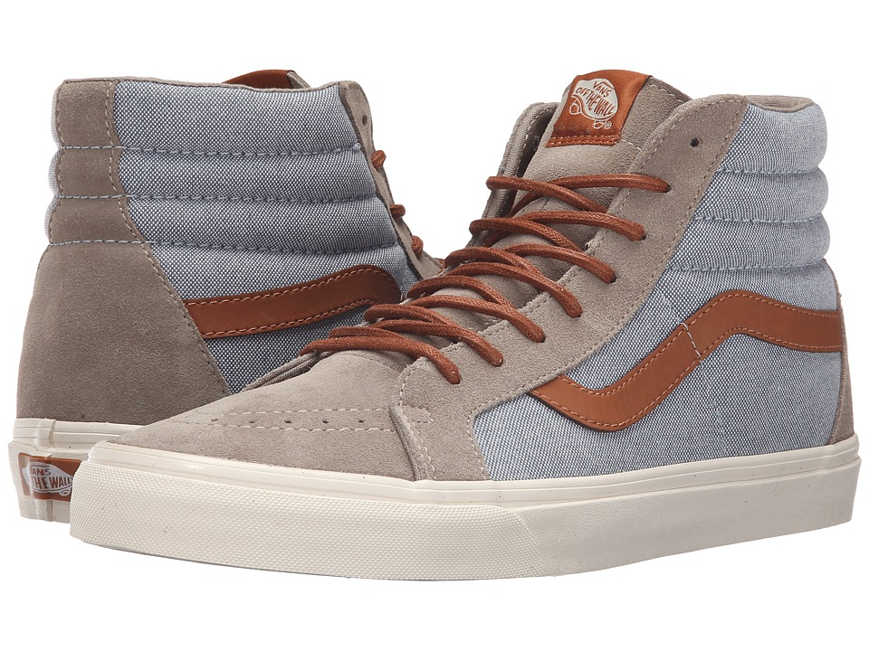 Vans - Sk8-Hi Reissue DX ((Brushed) Blue Mirage/Desert Taupe) Men's Skate Shoes