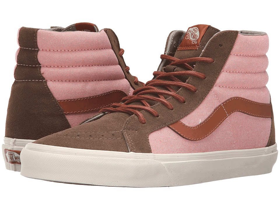 Vans - Sk8-Hi Reissue DX ((Brushed) Teak/Burnt Coral) Men's Skate Shoes