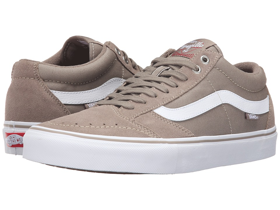 Vans - TNT SG (Taupe/White) Men's Skate Shoes