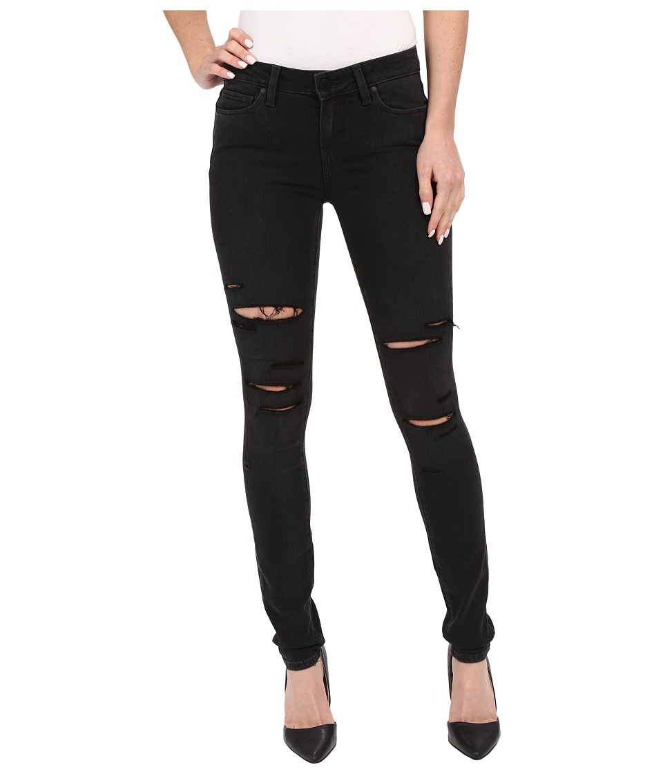 Paige - Verdugo Ultra Skinny in Black Fog Destructed (Black Fog Destructed) Women's Jeans
