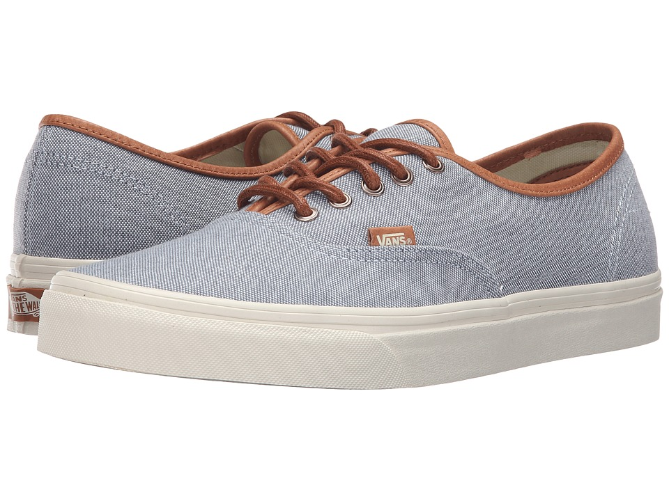 Vans - Authentic DX ((Brushed) Blue Mirage/Turtledove) Men's Skate Shoes