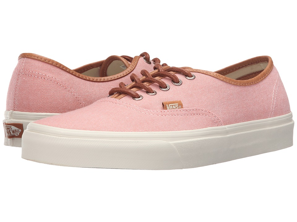Vans - Authentic DX ((Brushed) Burnt Coral/Turtledove) Men's Skate Shoes