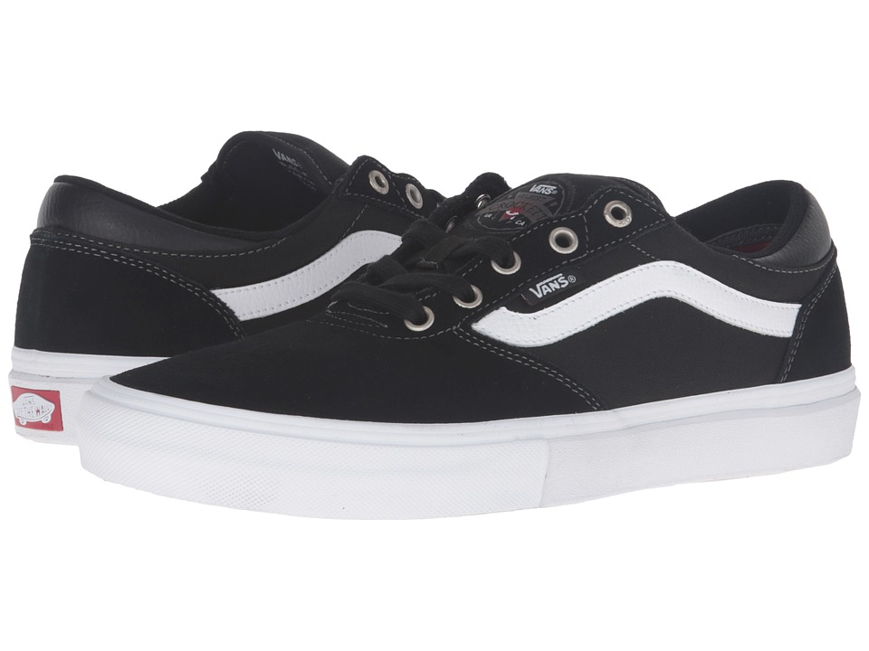 Vans - Gilbert Crockett Pro (Black/White/Red) Men's Skate Shoes