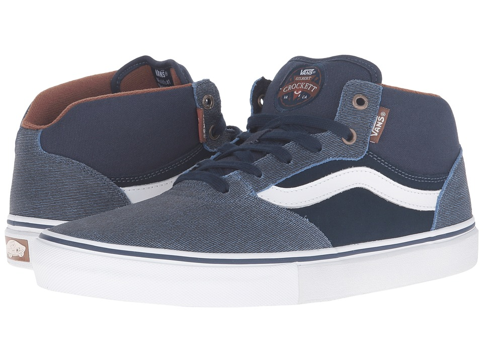 Vans Gilbert Crockett Pro Mid ((Xtuff) Dress Blues) Men