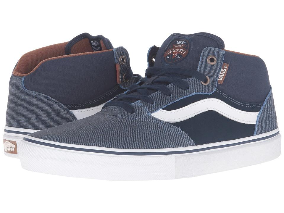 Vans - Gilbert Crockett Pro Mid ((Xtuff) Dress Blues) Men's Skate Shoes