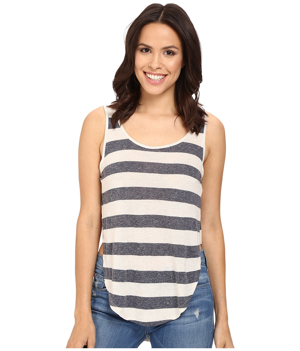 Mavi Jeans - Stripe Scoop Neck Tank Top (Midnight Navy) Women's Sleeveless