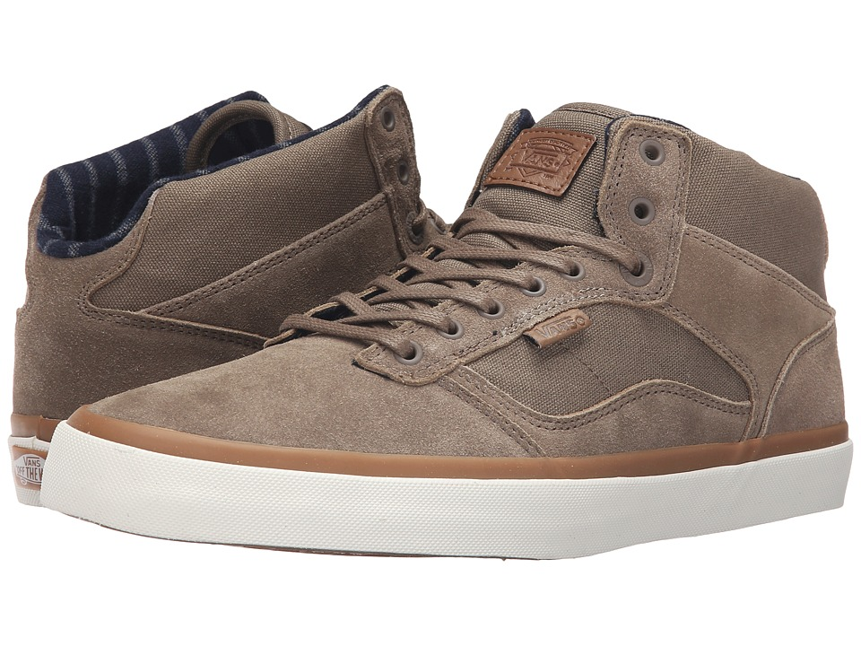 Vans - Bedford ((Canvas/Suede) Walnut/Marsh) Men's Skate Shoes