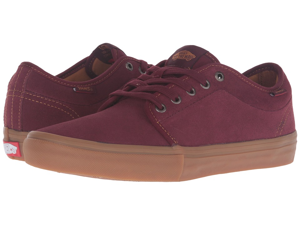 Vans - Chukka Low Pro (Port/Gum) Men's Skate Shoes
