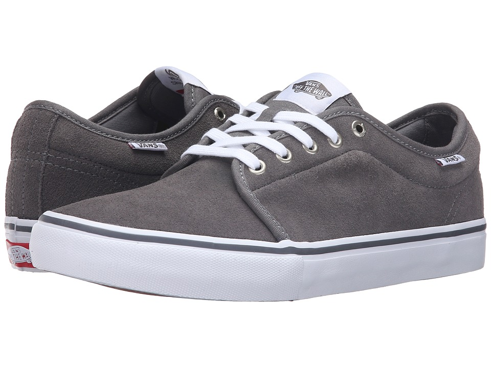 Vans - Chukka Low Pro (Grey/White) Men's Skate Shoes