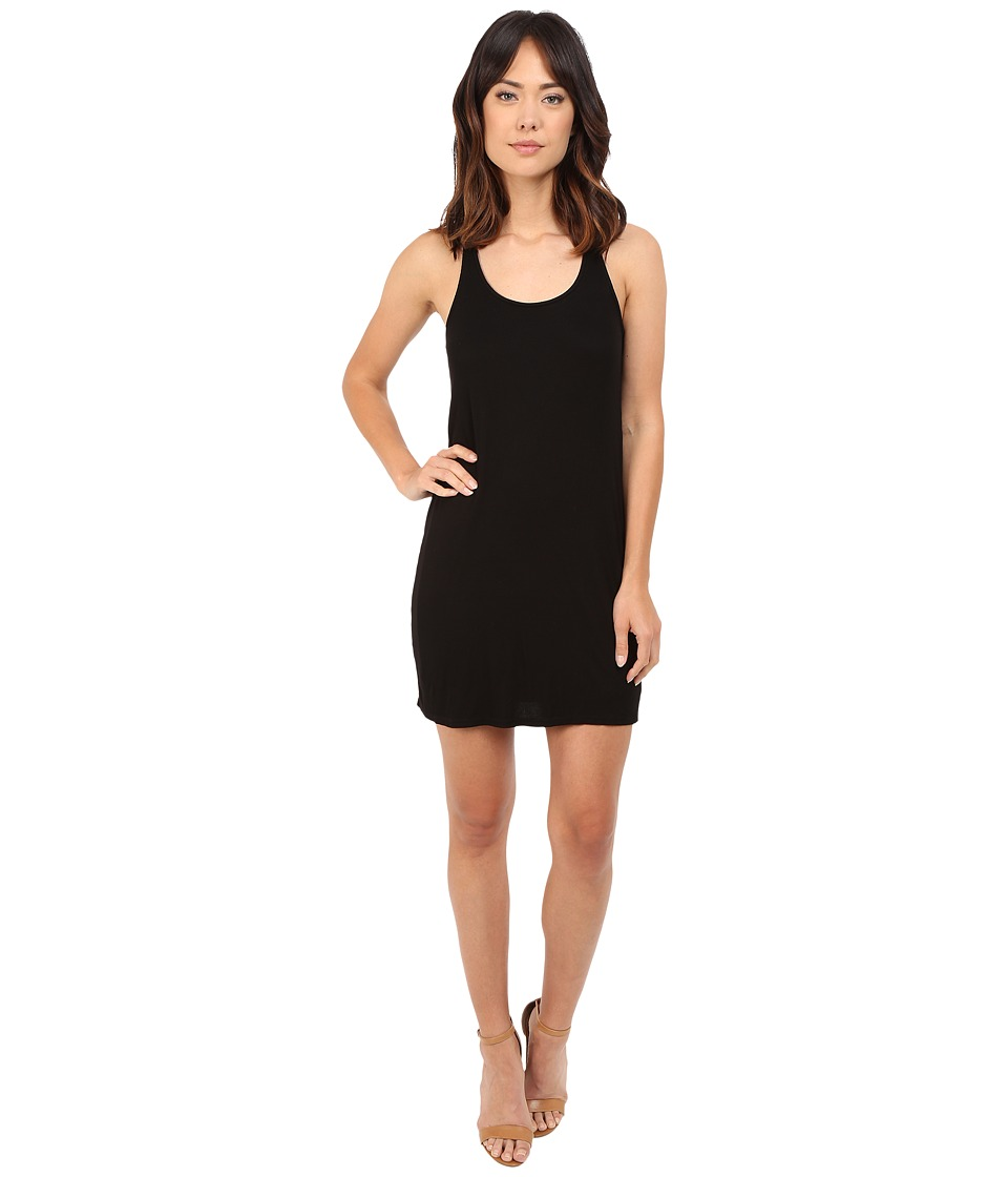 Splendid 2x1 Ribbed Tank Dress (Black) Women