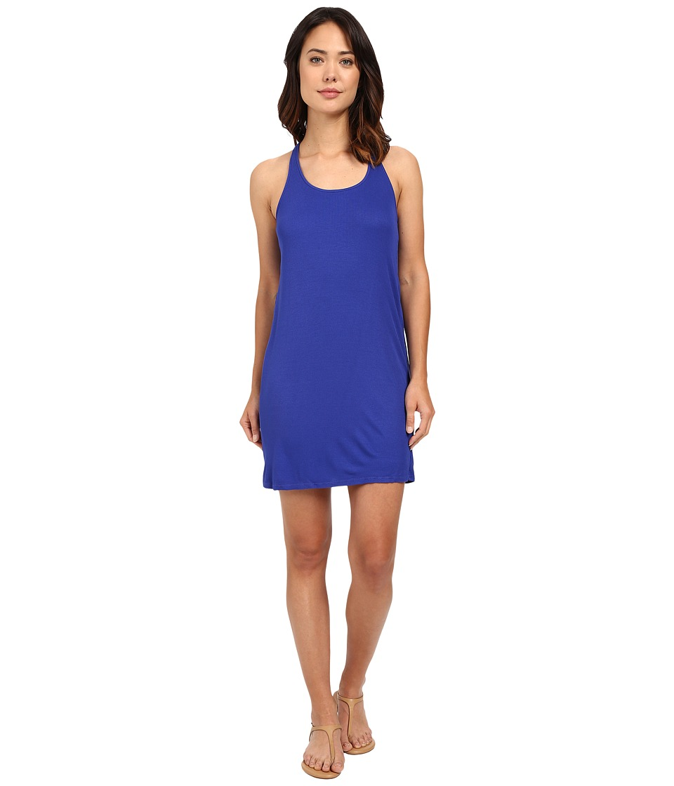 Splendid 2x1 Ribbed Tank Dress (Cobalt Blue) Women