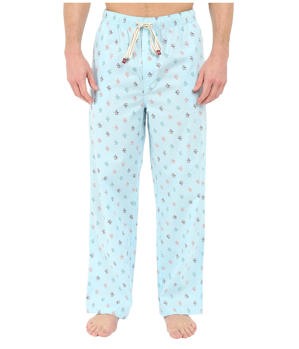 Original Penguin - Penguin Woven Pant (Crystal Blue) Men's Pajama