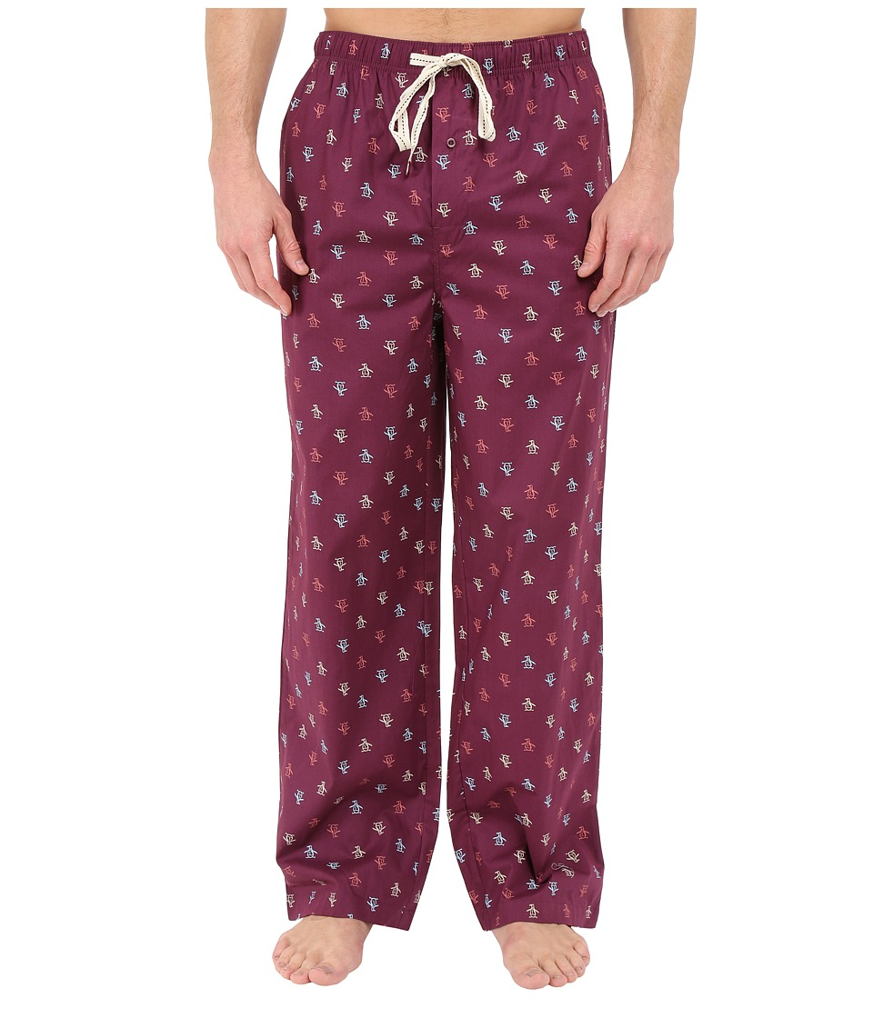Original Penguin - Penguin Woven Pant (Grape Wine) Men's Pajama