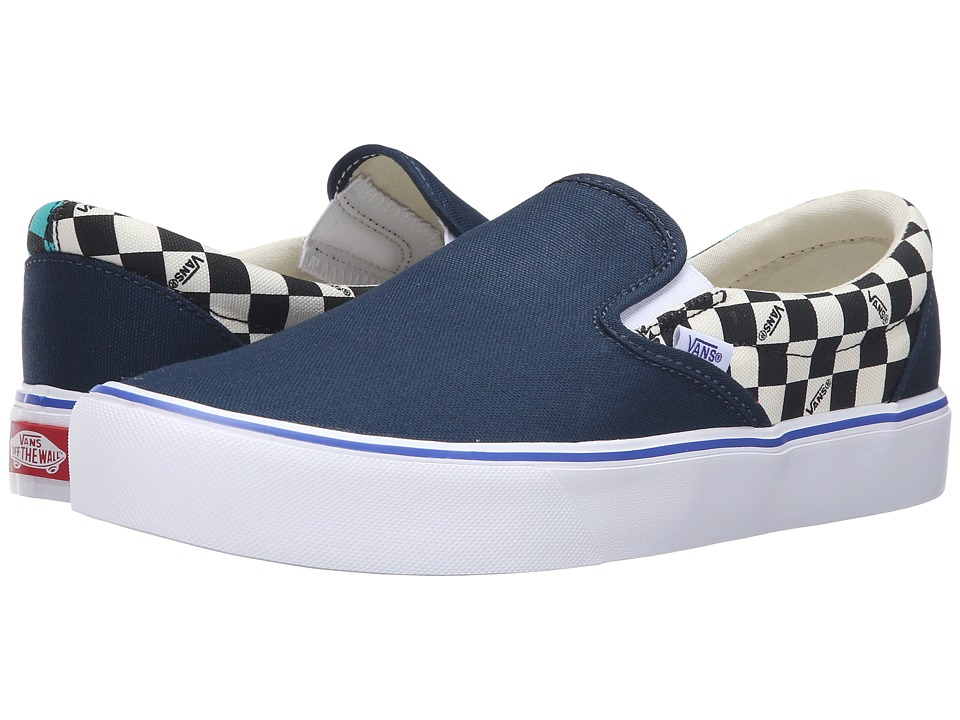Vans - Slip-On Lite ((Seeing Checkers) Dress Blues/White) Men's Skate Shoes
