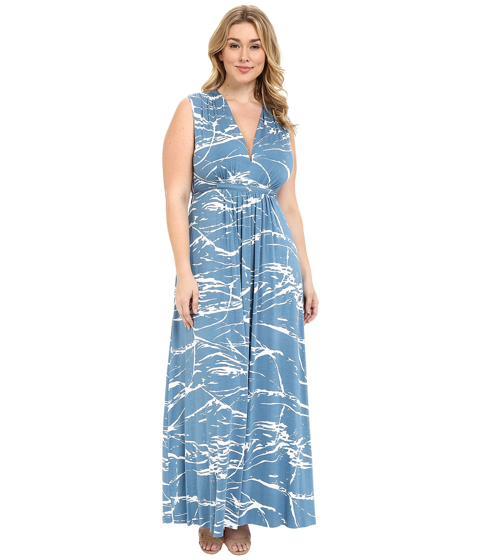 Rachel Pally Plus - Plus Size Long Sleeveless Caftan Dress (Moonflower Reverie) Women's Dress