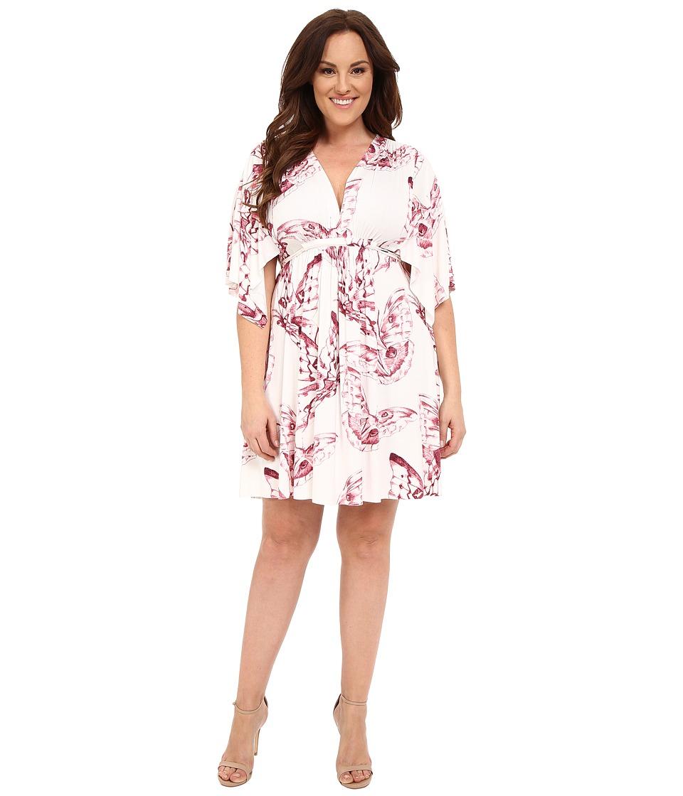 Rachel Pally Plus - Plus Size Mini Caftan Dress (Vino Mariposa) Women's Dress