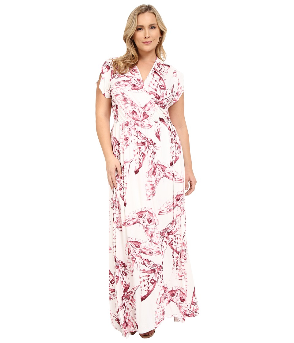 Rachel Pally Plus - Plus Size Perpetua Dress (Vino Mariposa) Women's Dress