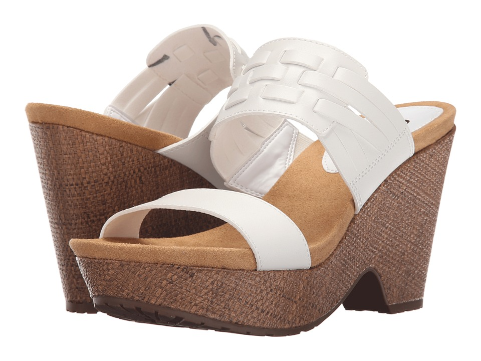 LAUREN Ralph Lauren - Jaslyn (White/White Color Edged PU) Women's Sandals