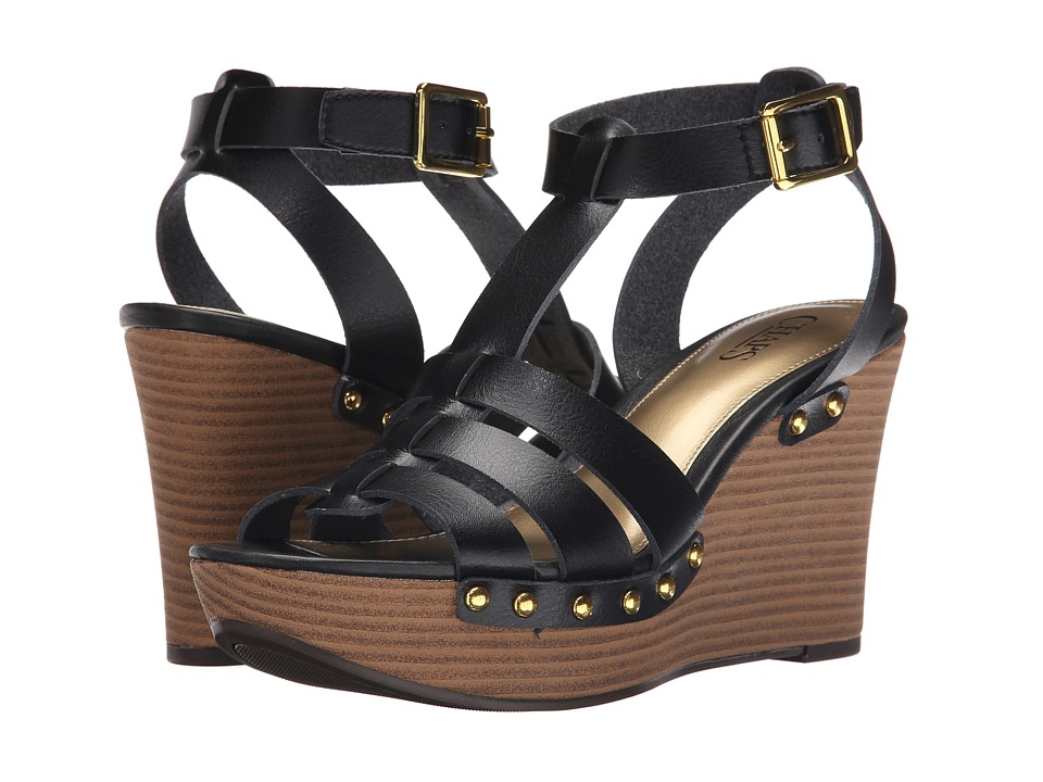 LAUREN Ralph Lauren - Aasia (Black Premier Vachetta PU) Women's Wedge Shoes