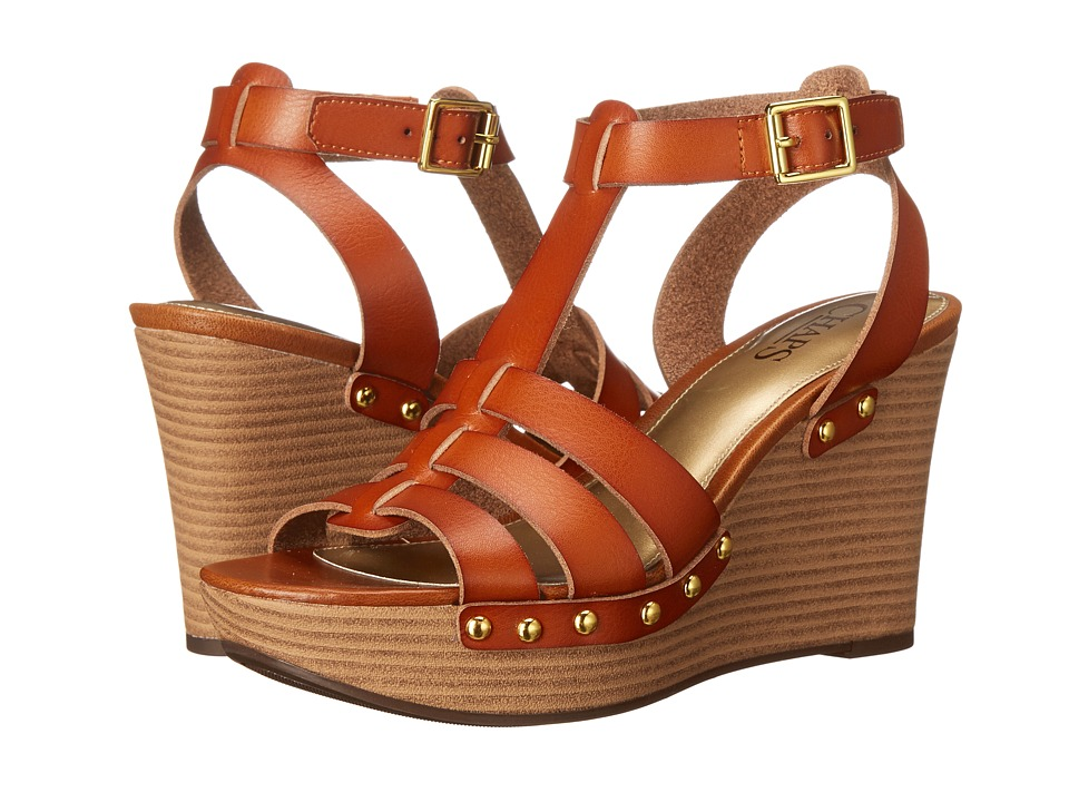 LAUREN Ralph Lauren - Aasia (Tan Premier Vachetta PU) Women's Wedge Shoes