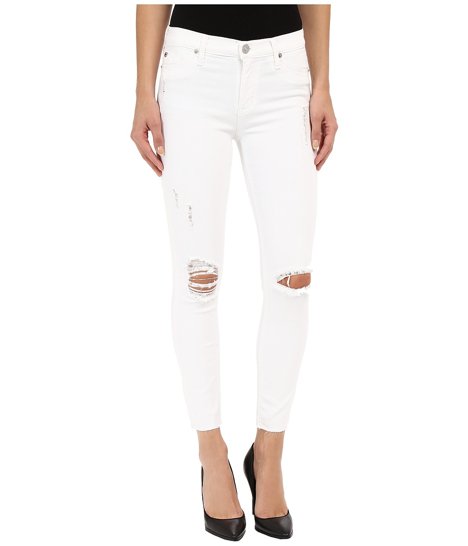 Hudson - Nico Mid-Rise Skinny in Dreamer (Distress White) (Dreamer (Distress White)) Women's Jeans