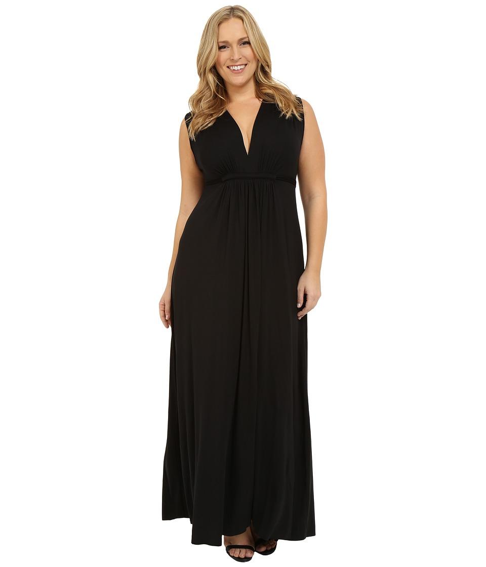 Rachel Pally - Plus Size Long Sleeveless Caftan (Black) Women's Dress
