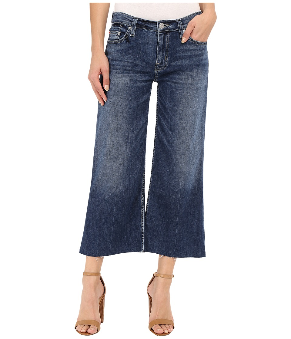 Hudson - Sammi Wide Leg Crop with Raw Hem in Stingray (Stingray) Women's Jeans