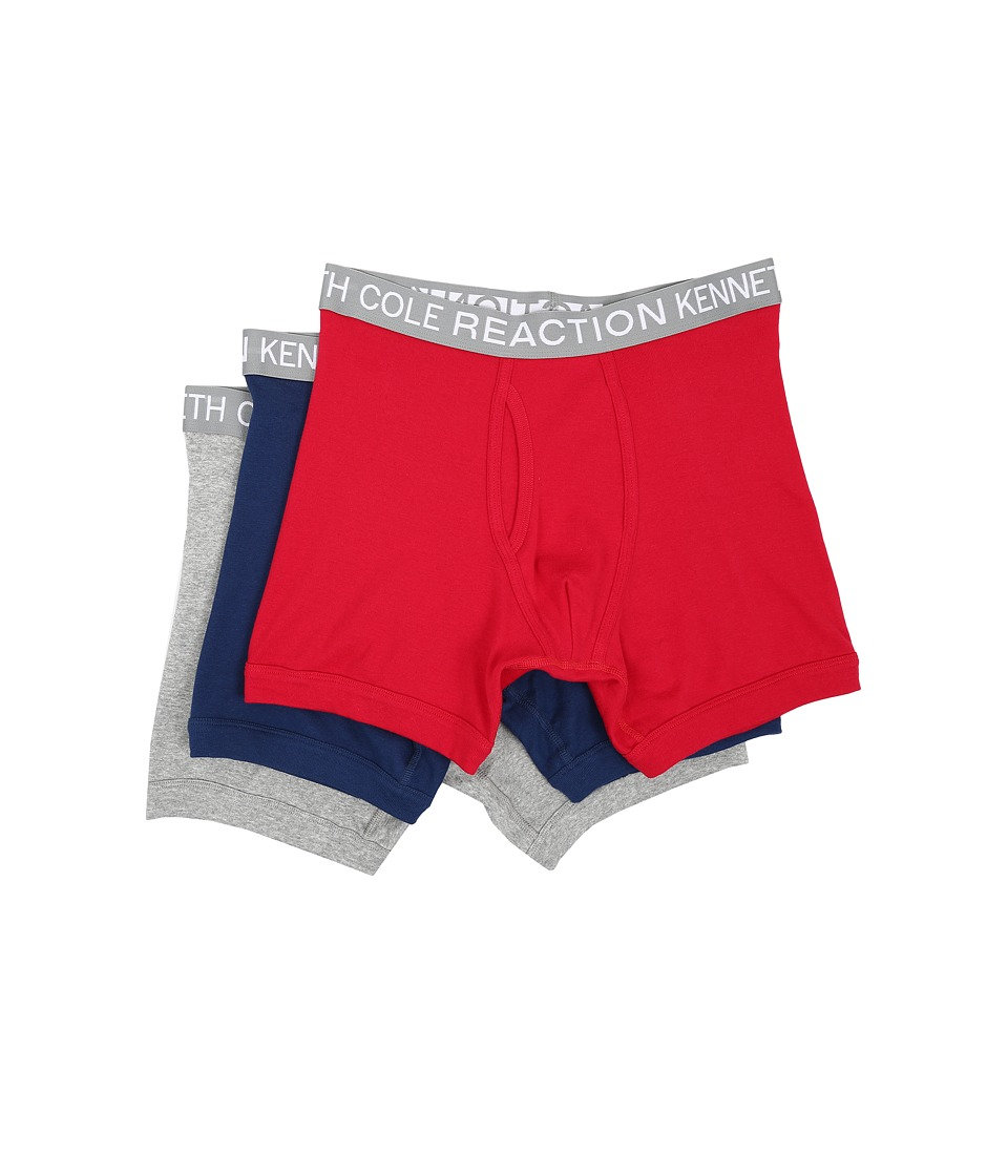 Kenneth Cole Reaction - 3-Pack Boxer Brief (Navy/Red/Light Grey) Men's Underwear