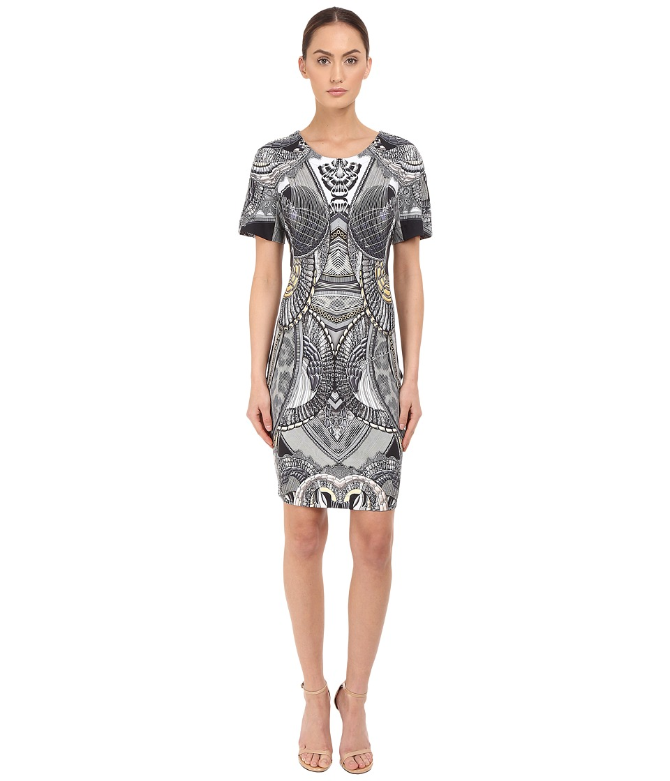 Just Cavalli - Leo Snake Bodycon Jersey Dress (Black) Women's Dress
